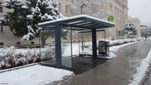 Buswartehäuschen HTL Mödling